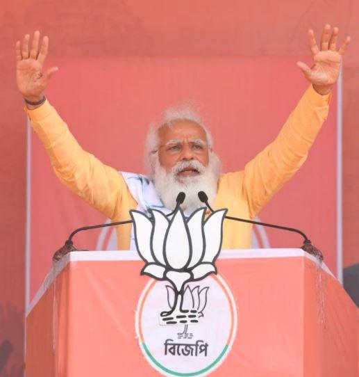 PM Modi Campaigns in West Bengal's Asansol and Gangarampur