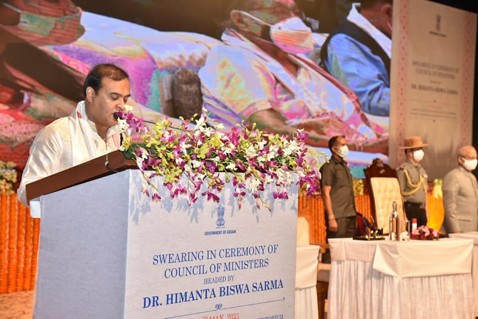 Himanta Biswa Sarma has taken oath as the 15th Chief Minister of Assam.