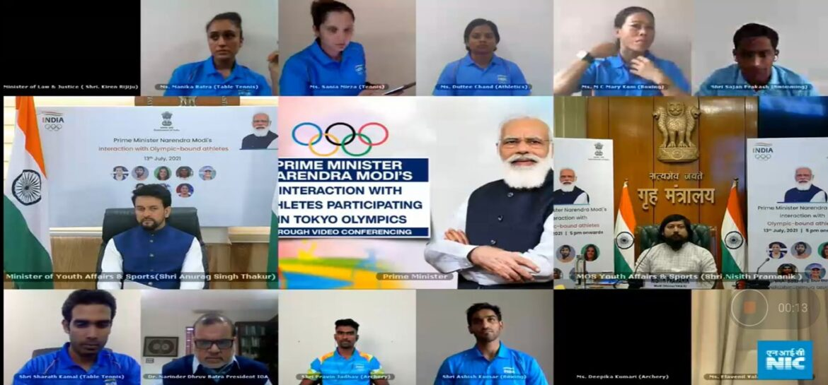 Union Sports Minister Anurag Thakur and MOS Nisith Pramanik to send-off first batch of Indian athletes from Delhi for Tokyo Olympics