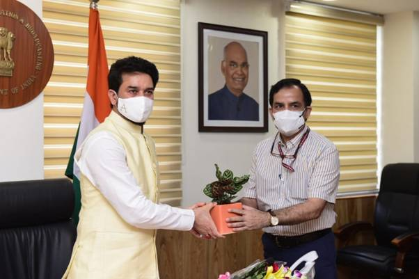 Anurag Thakur takes charge as Minister of Information and Broadcasting